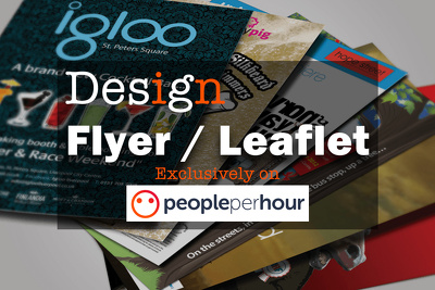Design a flyer or leaflet with unlimited revisions