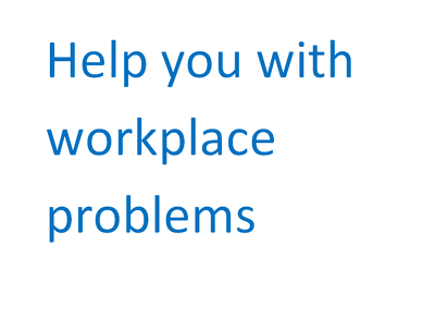 help you with workplace problems