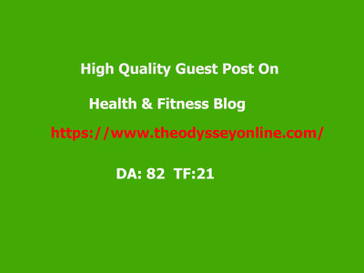 Publish your guest post on health blog (DA 82 & TF 21)