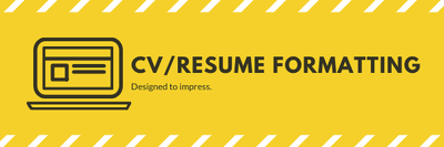 Format your CV/Resume to impress!
