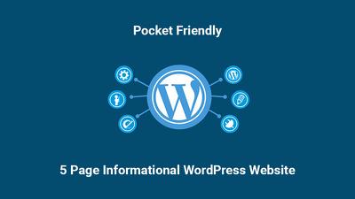 Develop a 5 page website on WordPress