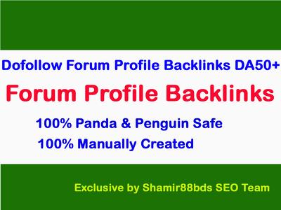 200 DoFollow Forum Profile Backlinks to Boost Rank DA50-DA100
