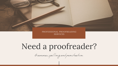 Proofread a 25,000 word book