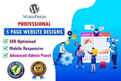Develop Professional 5 Pages WordPress Website