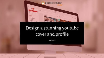 Design a stunning youtube cover and profile