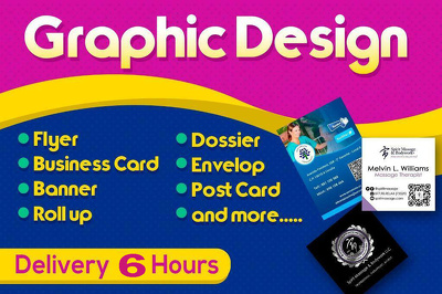 Design a double side flyer, poster and brochure