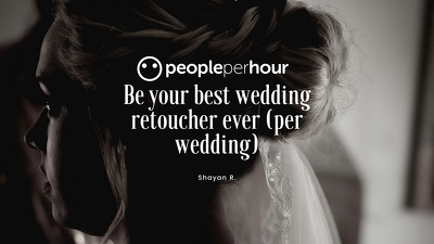 Be your best wedding retoucher ever (per wedding)