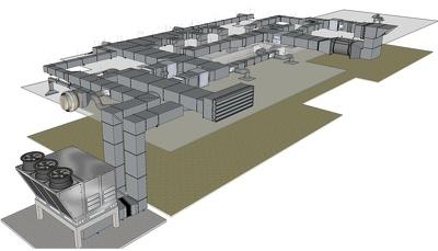 Produce 3D/2D HVAC shop drawings project
