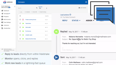 I will setup mailshake for cold email outreach and followups