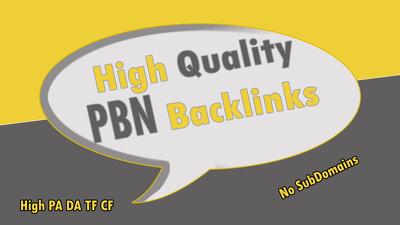 Build 10 High PA DA HomePage PBN SEO Backlinks Dofollow Links