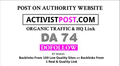 Guest post on Activist Post - activistpost.com - DA72