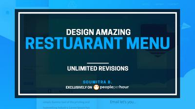 Design amazing restaurant menu