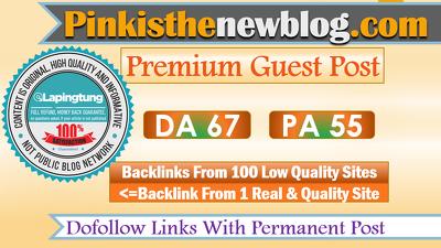 Guest Post on Pinkisthenewblog.com - Women's Lifestyle Site DR50