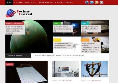 Guest post on Technocrazed.com tech buisness website - DA 61