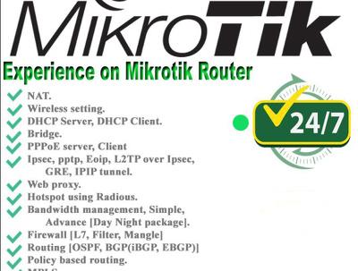 Configure, troubleshoot your Mikrotik router basic to advance.