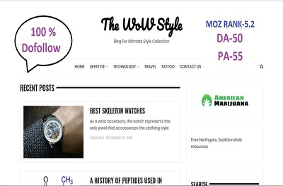Do Guest post on Thewowstyle,Thewowstyle.com with Dofollow link