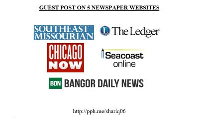 Guest Posts on 5 Newspaper Sites DA 70+ | All Do-Follow links
