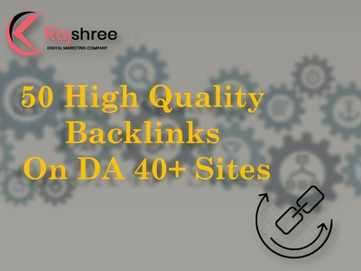 50 DA 40+ High quality backlinks