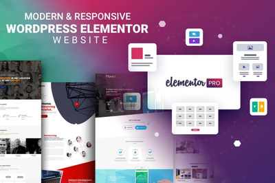 Design responsive seo wordpress website by elementor pro