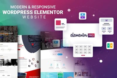 design responsive seo wordpress website by elementor pro