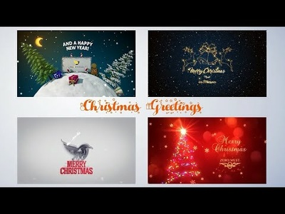 Make awesome Christmas greetings card video animation