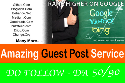 4 Guest post DA50+ Link Building Do Follow Blogger outreach