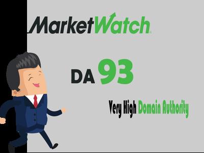 Guest Post on MarketWatch.com Dofollow link DA 92 - Only 2 left