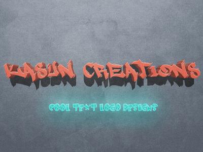 Design 3D text logo