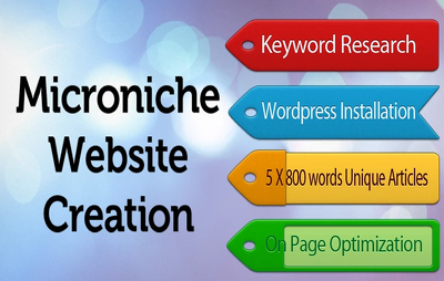 Create a cost effective micro niche site