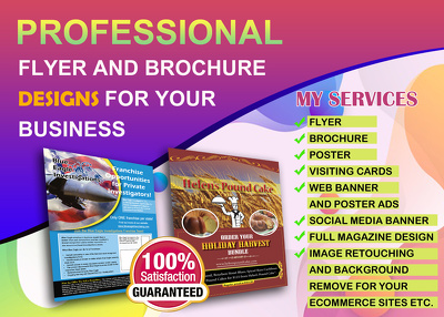 Design professional flyer posters and brochure