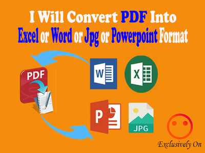 convert pdf to excel word ppt jpg