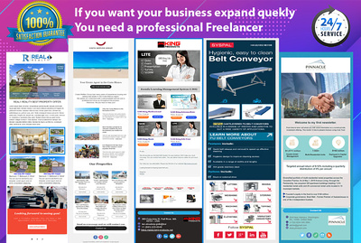 I can built creative responsive email template