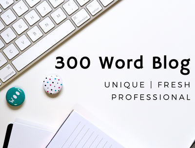 Write a 300 word blog post, including keywords & image