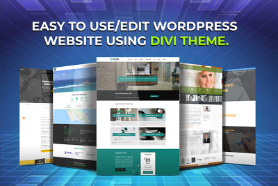 Create easy to use/edit WordPress website using DIVI theme