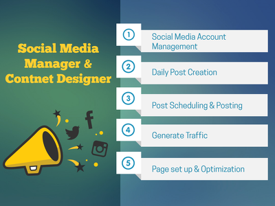 Be your social media manager and content designer