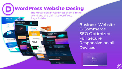 Make your Responsive, SEO optimize WordPress Website With Divi