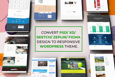 Convert PSD / XD / Sketch  design to Responsive WordPress Site