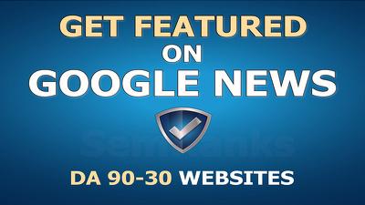 Guest Post on DA 60 Google News Site