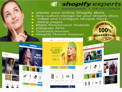 Design shopify store, shopify website or shopify dropship store