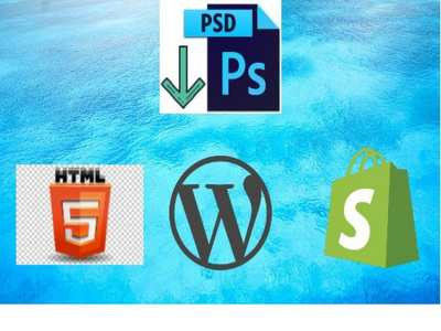 Convert PSD into Wordpress/Shopify