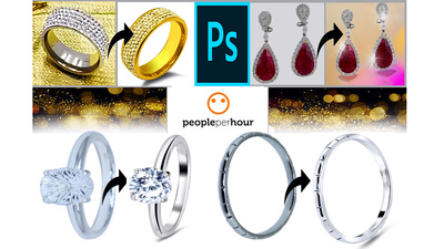 Professionally jewelry retouching and background removing