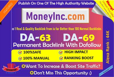 Publish Guest post on Moneyinc, Moneyinc.com Business Site- DA63