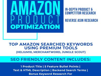 I Will Craft A SEO Optimized Amazon Listing Product Description