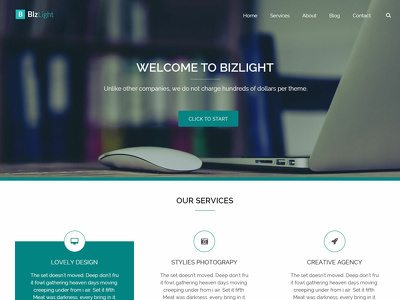 Create a responsive WordPress website using Bizlight Theme