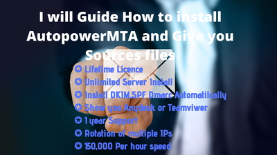 Guide you how to install autopowerMTA and provide sources files