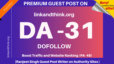 Publish Guest Post on linkandthink/linkandthink.org DA 31