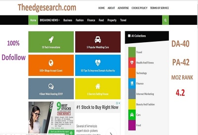 Do Dofollow guest post on Theedgesearch.com