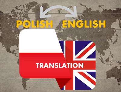 TRANSLATE 500 WORDS FROM ENGLISH  POLISH