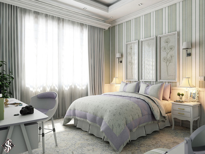 Design interior & 2 3D FHD photorealistic per room/zone