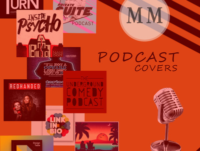 Design dazzling podcast cover for you